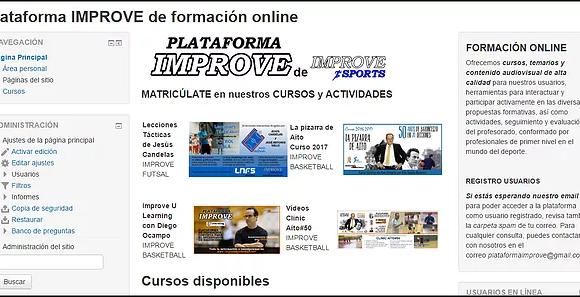 PLATAFORMA IMPROVE de Formación Online, garantía de calidad para nuestros alumnos.
