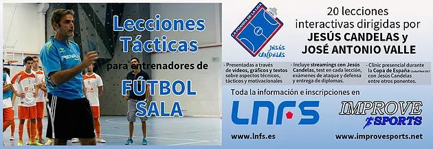 Formación online para entrenadores de Futsal con las Lecciones Tácticas de Jesús Candelas